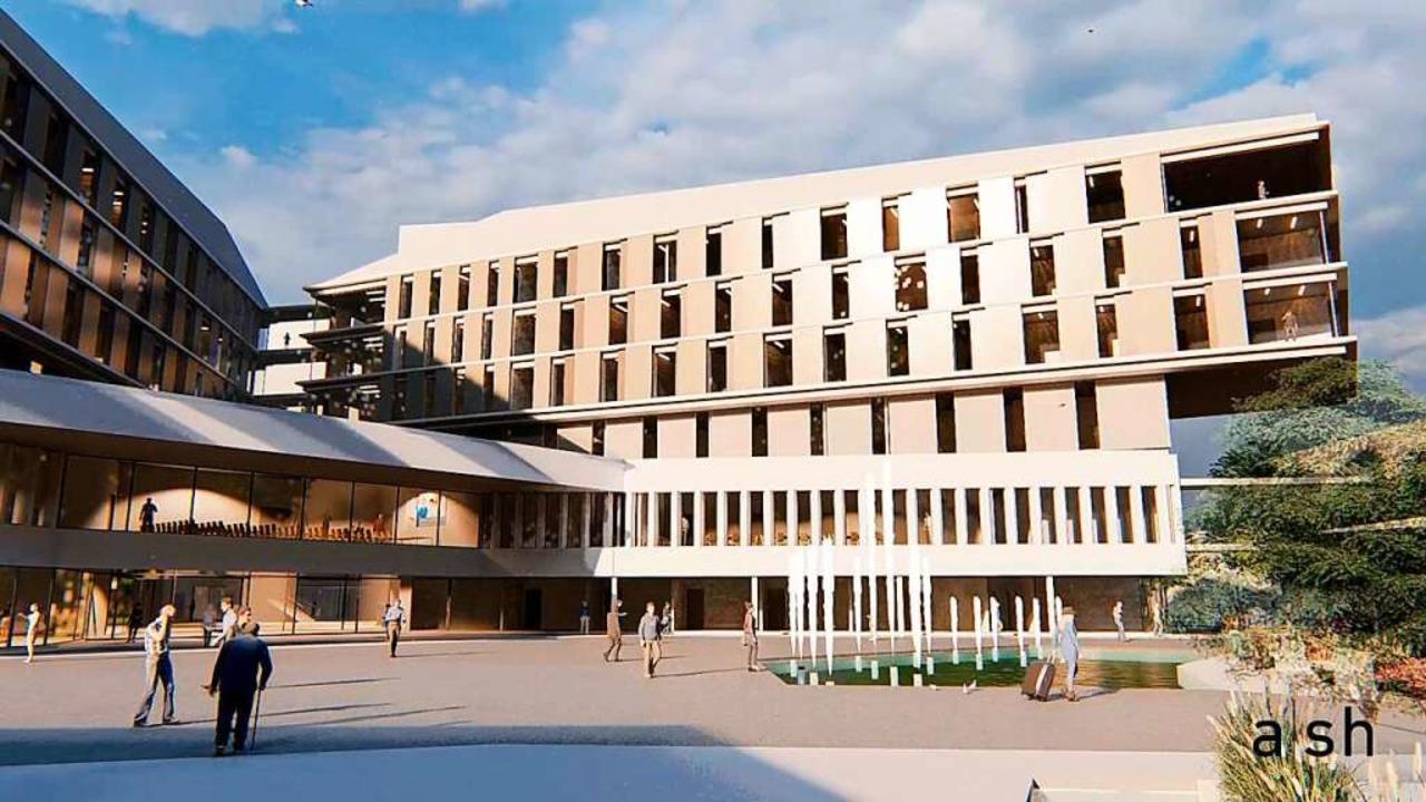 Der Eingangsbereich des neuen Zentralklinikums.  | Foto: a|sh sander.hofrichter architekten GmbH