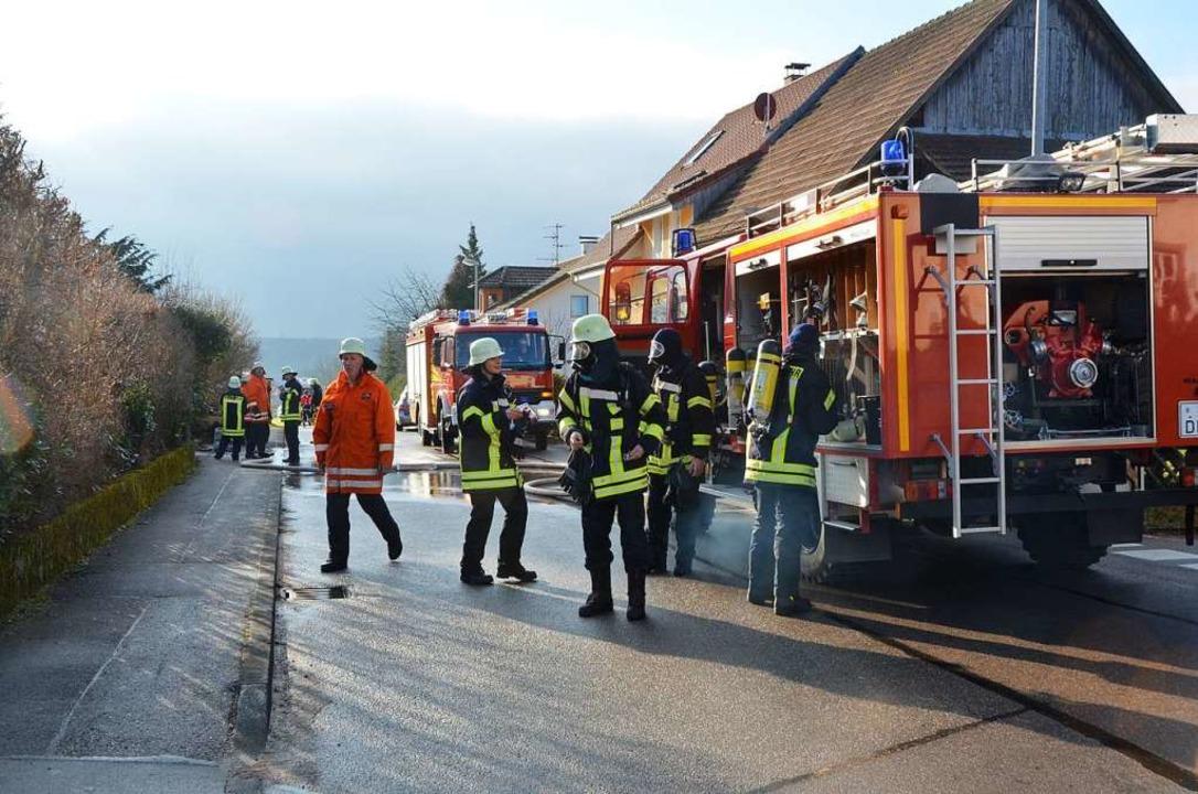 Hägelbergs Feuerwehr – hier ein ...and in der Kappelgass schnell vor Ort.  | Foto: Ralf H. Dorweiler