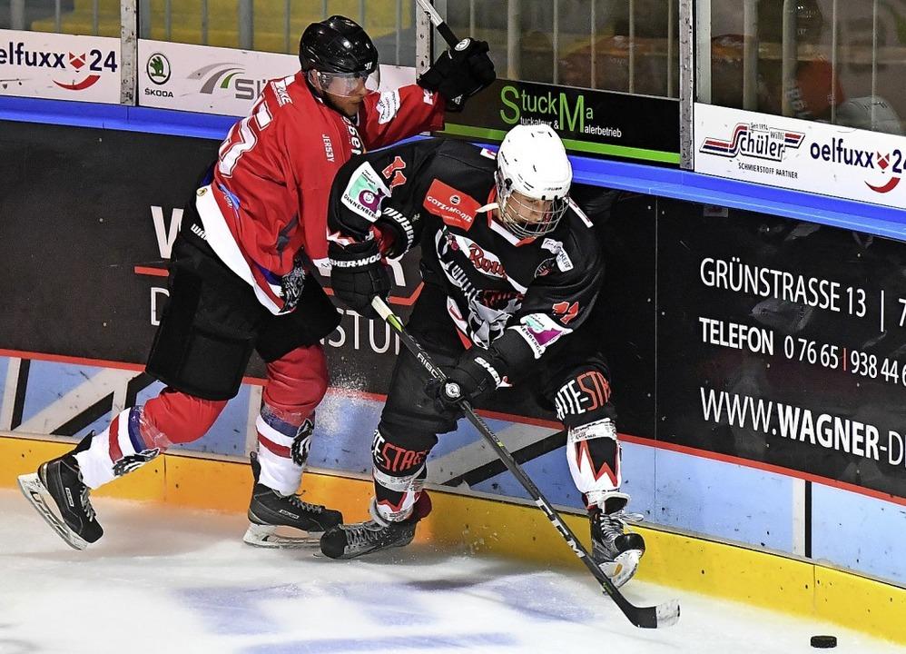 <BZ-FotoAnlauf>Eishockey:</BZ-FotoAnla... Liga und im Pokal jeweils ins Finale.  | Foto: Achim Keller