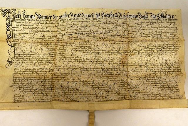 Machtbereich des Klosters Reichenau reichte bis nach Schleitheim