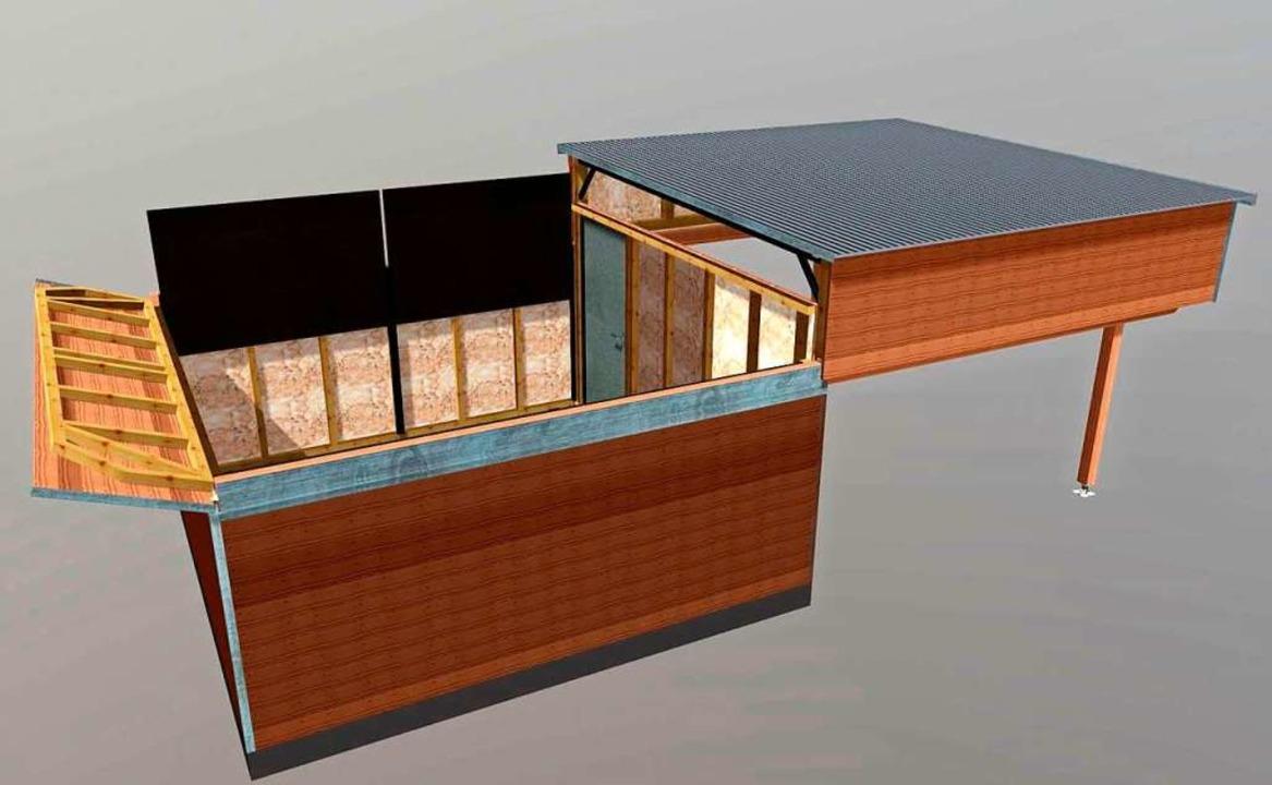 Die Schutzhütte für die Sternwarte in Gersbach besitzt ein verschiebbares Dach.  | Foto: Phaenovum