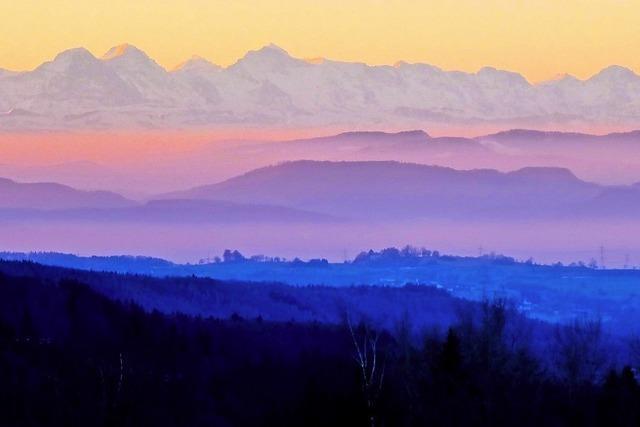 Blick bis zu den Alpen