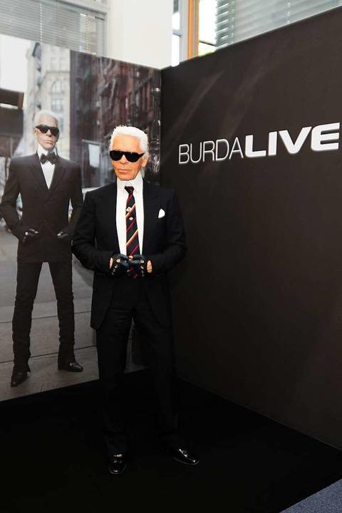 2008 war Karl Lagerfeld im Offenburger Medienpark Gast der Reihe Burda-Live  | Foto: Hubert Burda Media