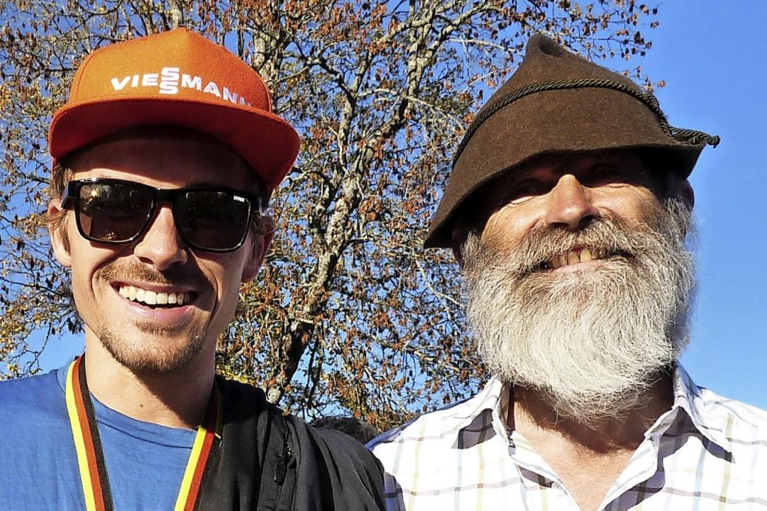 Gemeinsam bei der Weltmeisterschaft in...d: Vater Alfred und Sohn Fabian Rießle  | Foto: bachmann