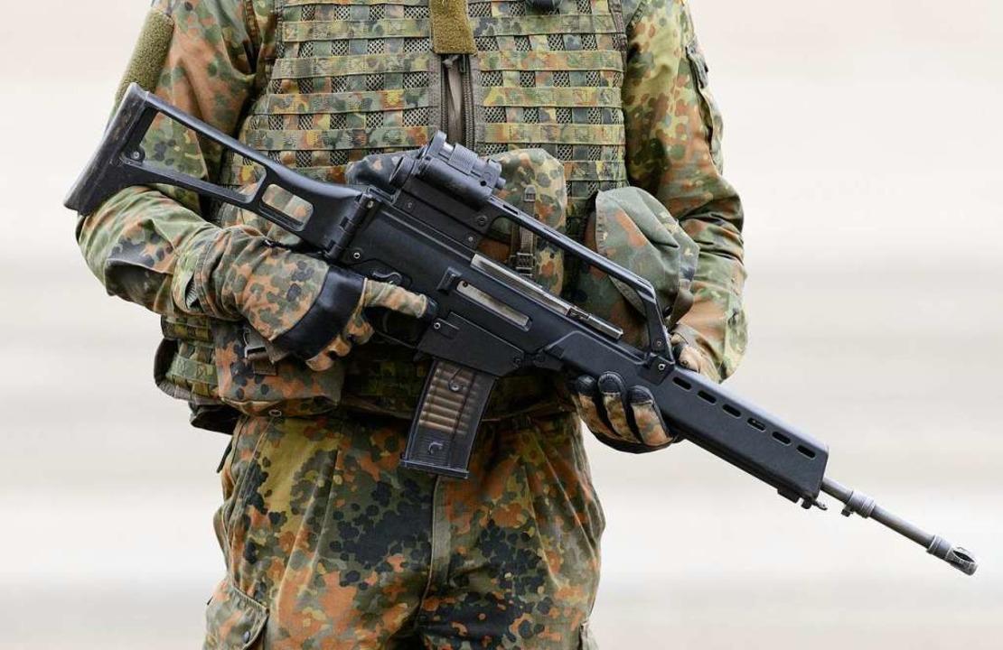 Illegal nach Mexiko verkauft; Sturmgewehr G 36 der Firma Heckler & Koch  | Foto: dpa