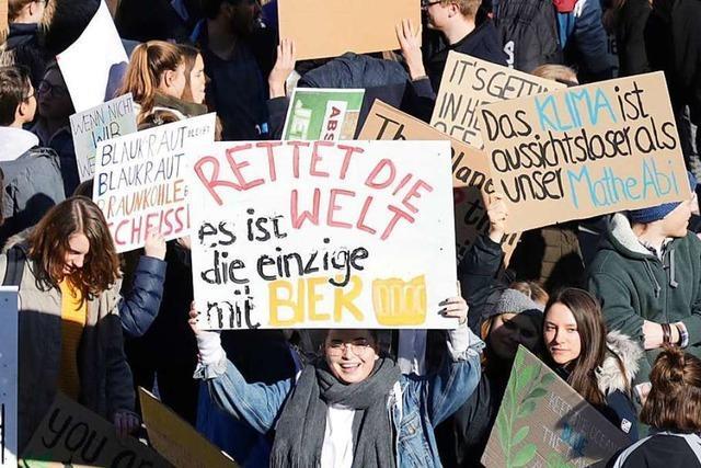 Demo für den Klimaschutz – Schulen in Weil verzichten auf Sanktionen