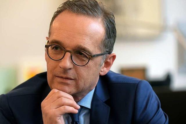 Außenminister Heiko Maas will mit den USA Klartext reden