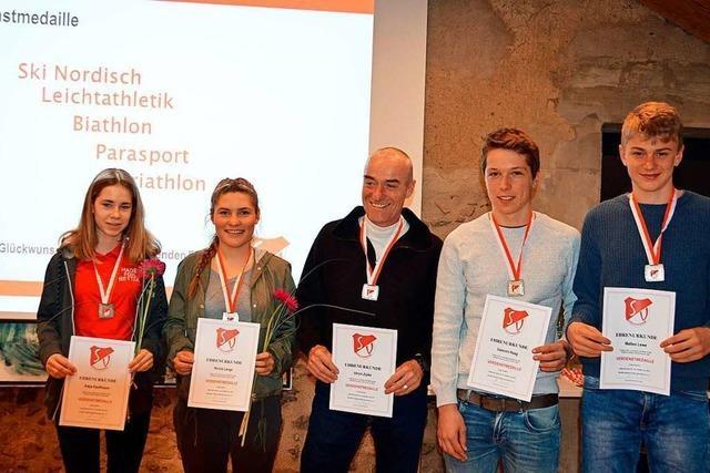 Sportverein Kirchzarten lobt Sportler für Leistungen und Lebenswerk