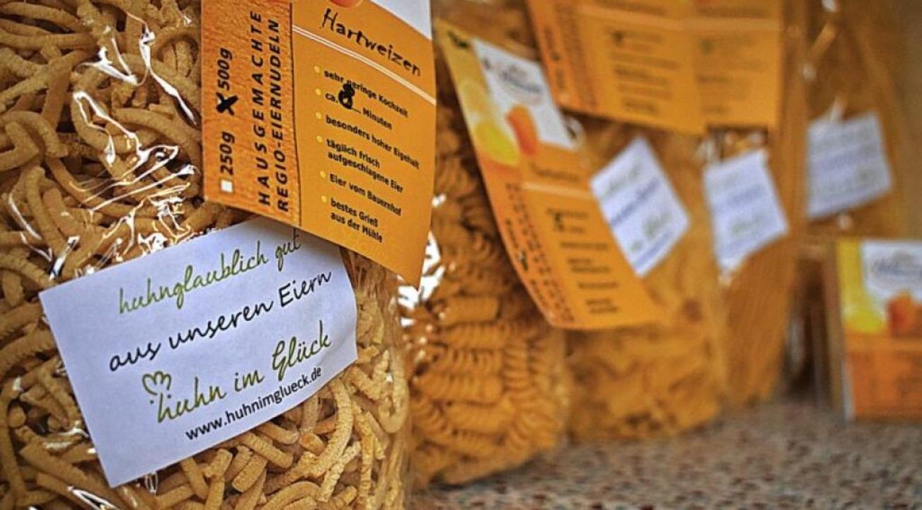 Bad Krozinger Nudeln aus Bad Krozinger Eiern gibts nur im Hofladen.  | Foto: Frank Schoch