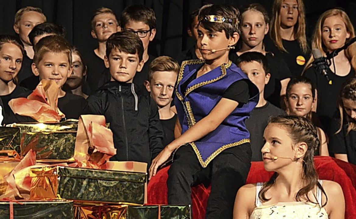 "Das Unterstufen-Musical ""Prinz O...euen Schulfachs MWP am Faust-Gymnasium    Foto: Martina Faller"