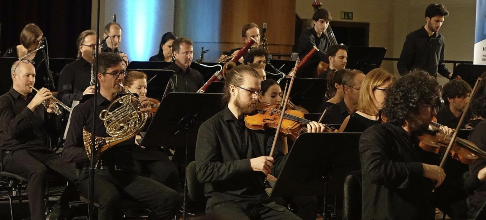 Das Kammerorchester Basel führte beim ...n Wettbewerbskonzert drei Stücke auf.     Foto: Roswitha Frey