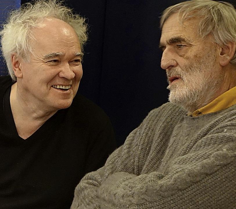 Michael Jarrell (links) und Helmut Lac... Juroren des  Kompositions-Wettbewerbs    Foto: Roswitha Frey