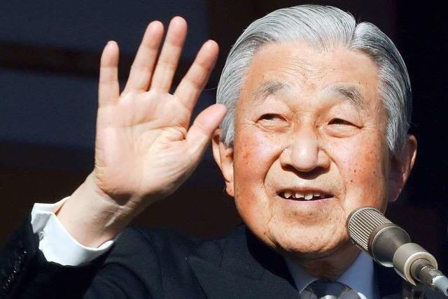 In Japan beginnt bald eine neue Zeitrechnung, denn der Kaiser dankt ab