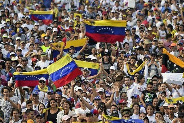 Rangeleien und Schüsse in Venezuela