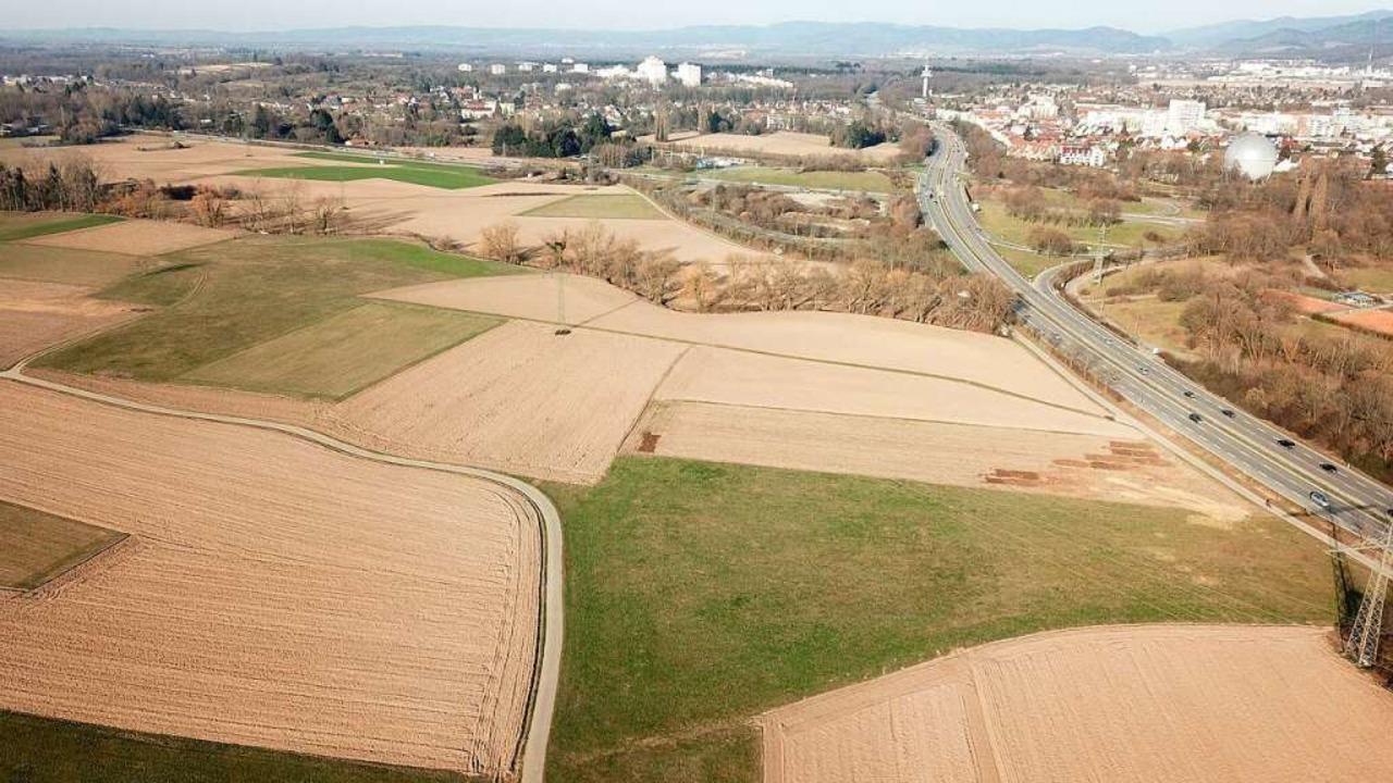Blick über das Dietenbachgebiet im Fre... Hintergrund der Stadtteil Landwasser.  | Foto: Michael Saurer