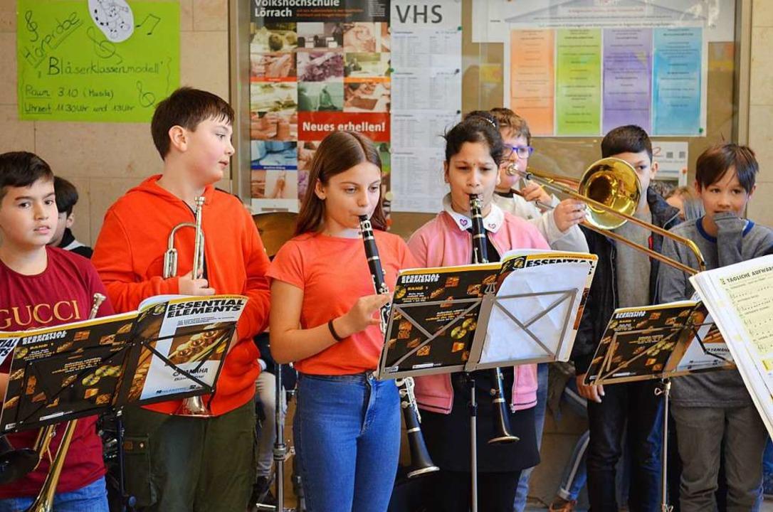 In den Bläserklassen der Theodor-Heuss...n Klassen ein Blasinstrument erlernen.    Foto: Britta Wieschenkämper