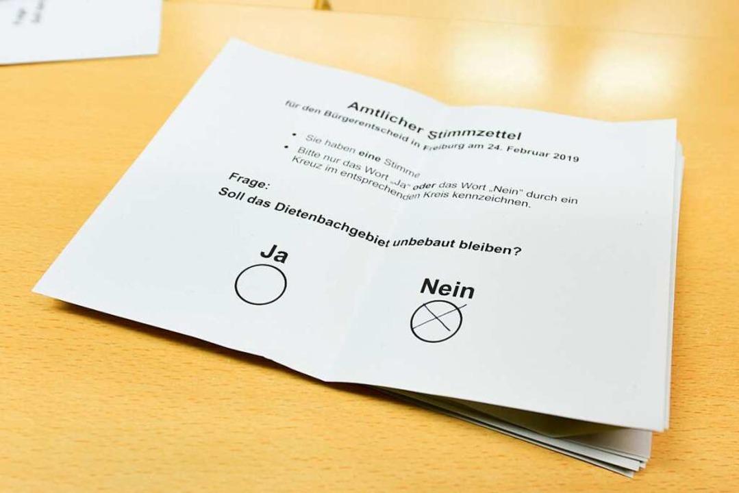 60 Prozent der Freiburger stimmten mit...r eine Bebauung des Dietenbachgebiets.  | Foto: Rita Eggstein