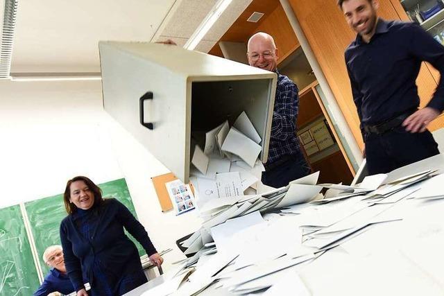 Fotos: So verfolgten die Freiburger den Bürgerentscheid