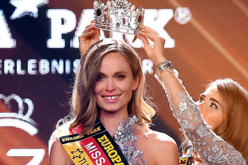 Nadine Berneis aus Stuttgart, wird im Europa-Park zur Miss Germany 2019 gekürt. (Foto: dpa)