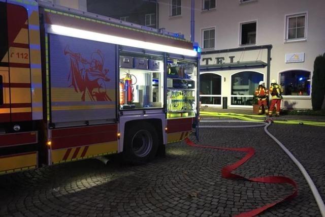 Ringhotel Goldener Knopf in Bad Säckingen wegen Brandes evakuiert