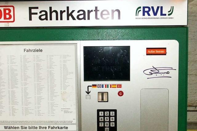 Fahrscheinautomaten halten Aufbruchversuch stand