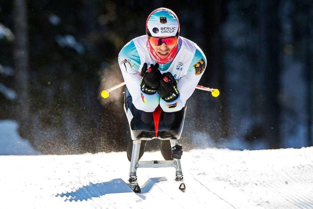 Doppelweltmeister im Langlauf: Martin ...rge noch lange in Erinnerung behalten.  | Foto: Bob Frid/Canadian Paralympic Committee