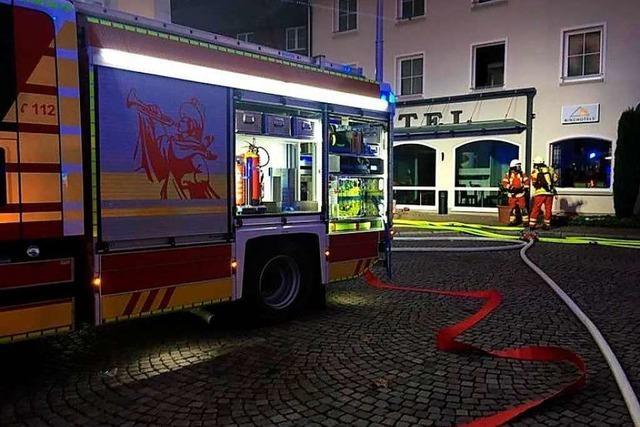 Hoher Schaden, keine Verletzten bei Brand in Hotel in Bad Säckingen