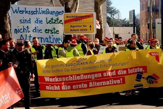Protest bei Südzucker – Mitarbeiter fürchten um Jobs