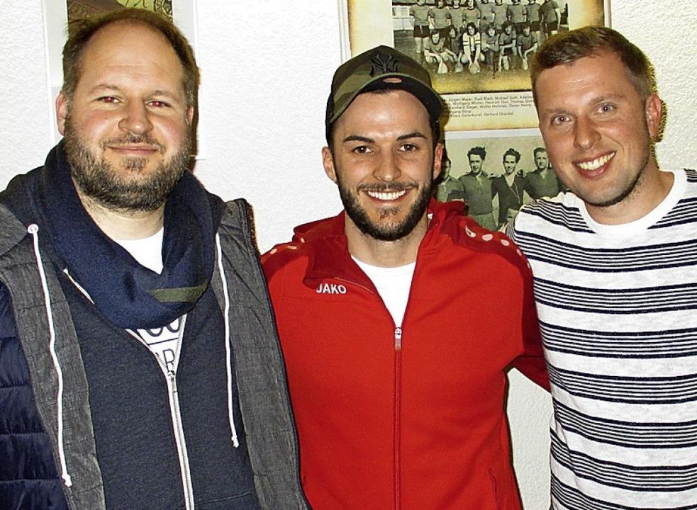 Sportvorstand Matthias Fürderer (links...Friedrich (Mitte) und Christian Kranz.  | Foto: Mario Schöneberg