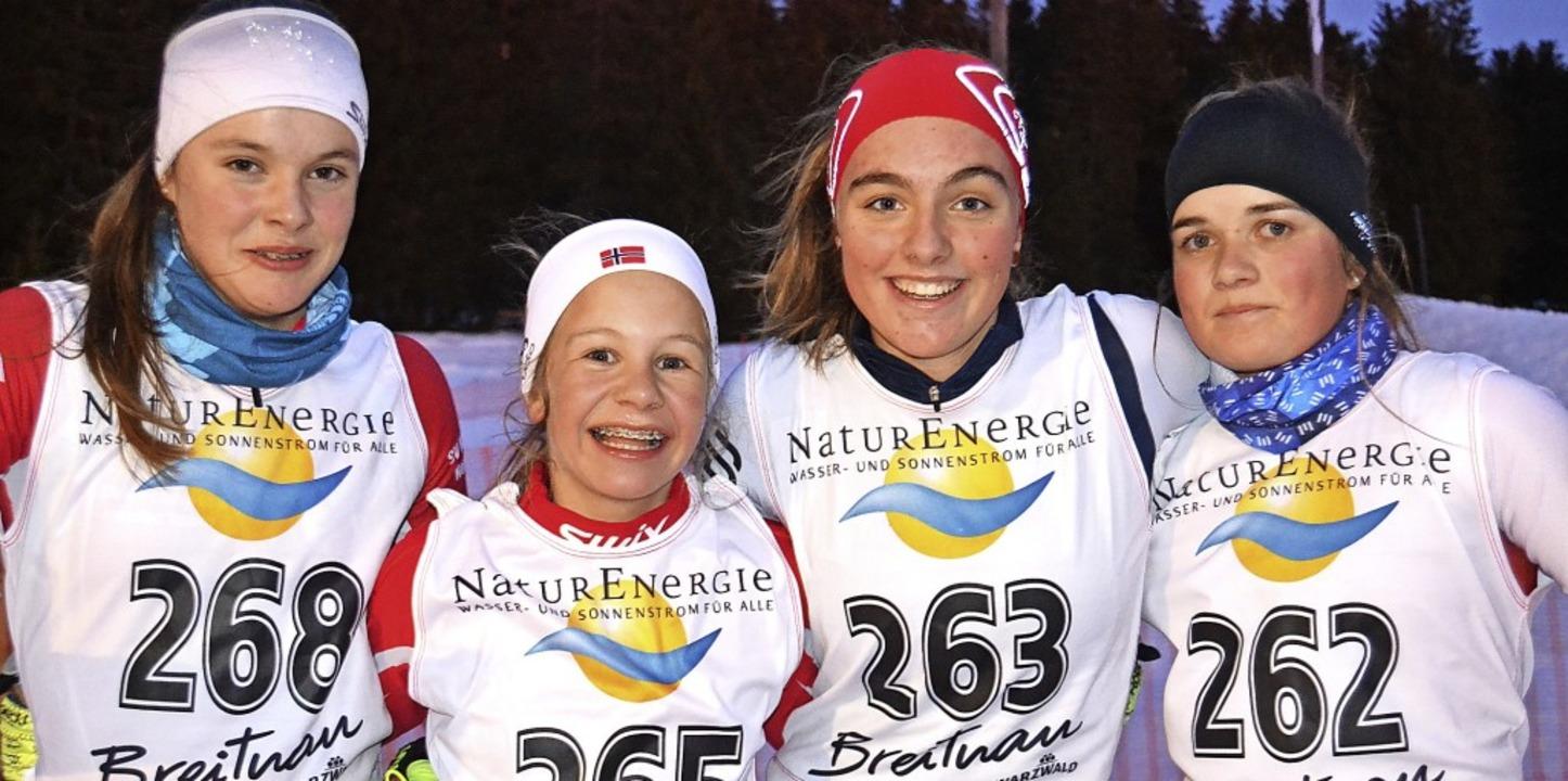 Bei den Mädchen U 14/15 gewann Leonie ...a Strecker (links) und Janna Klimpel.   | Foto: junkel