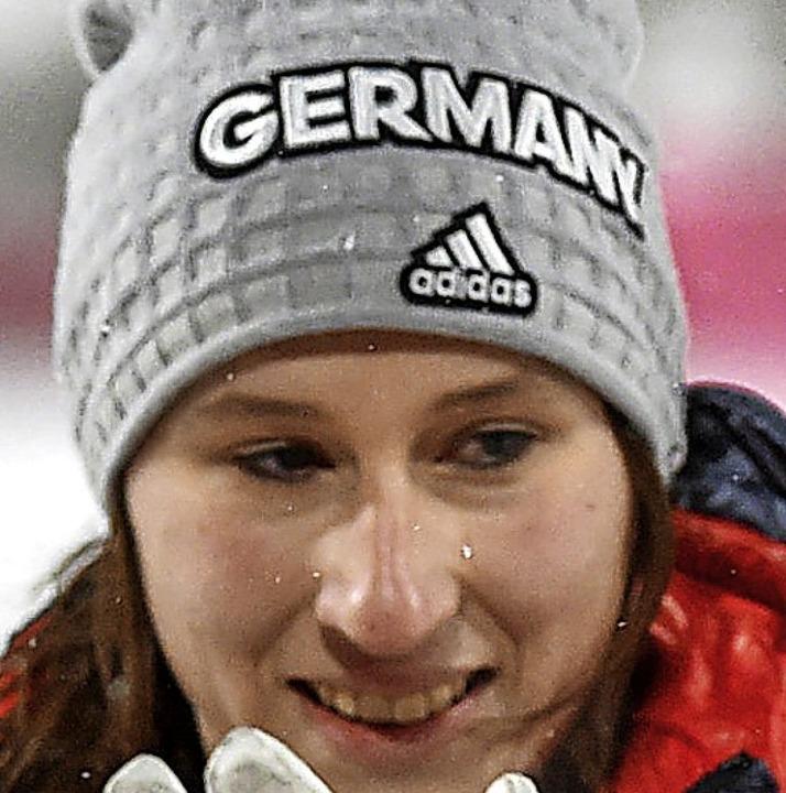 Auf dem Sprung zu einer WM-Medaille? Ramona Straub vom SG Langenordnach   | Foto: dpa