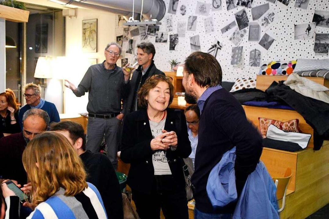 Wahlparty vpn Team Nein im Café Herrmann am Sonntagabend.  | Foto: Thomas Kunz