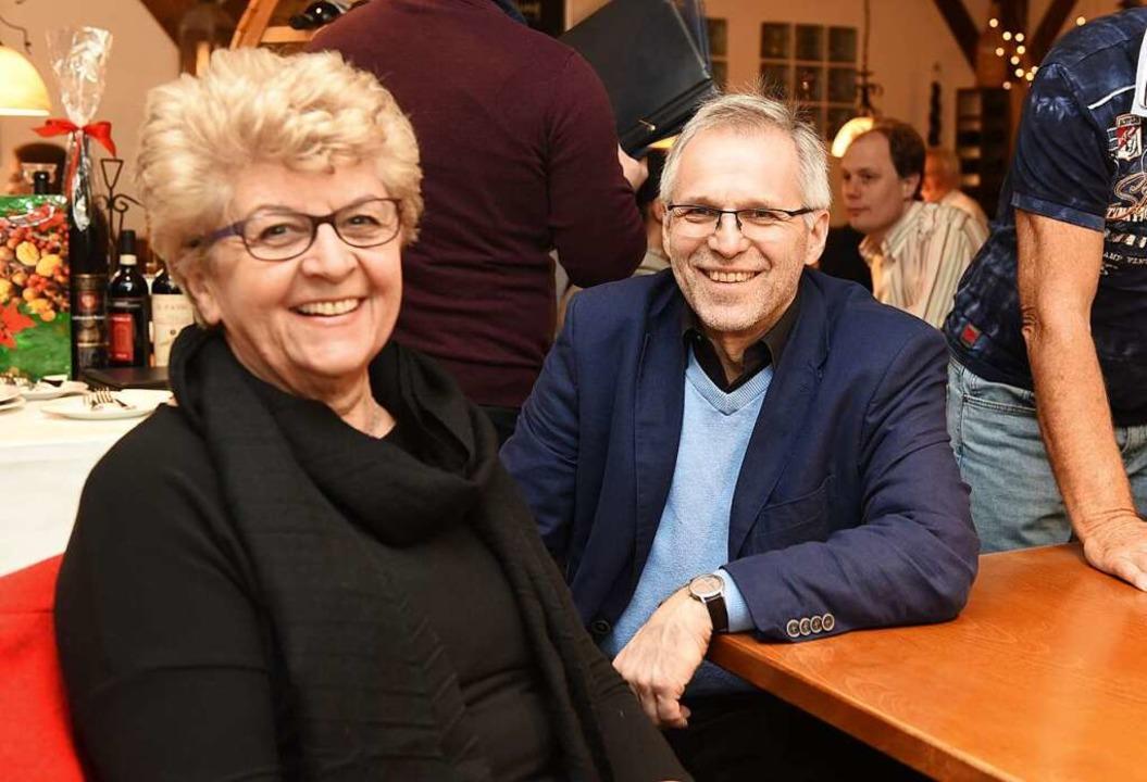 Gerlinde Schrempp und Wolf-Dieter Wink...rt nach dem Entscheid am Sonntagabend.  | Foto: Rita Eggstein