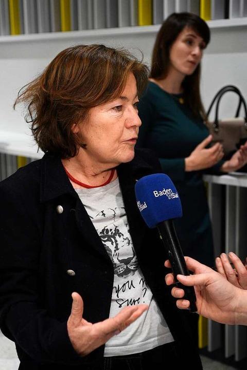 Maria Viethen nach dem Entscheid im neuen Rathaus im Stühlinger  | Foto: Thomas Kunz