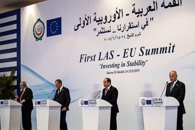 EU und Arabische Liga: Peinlicher Auftritt