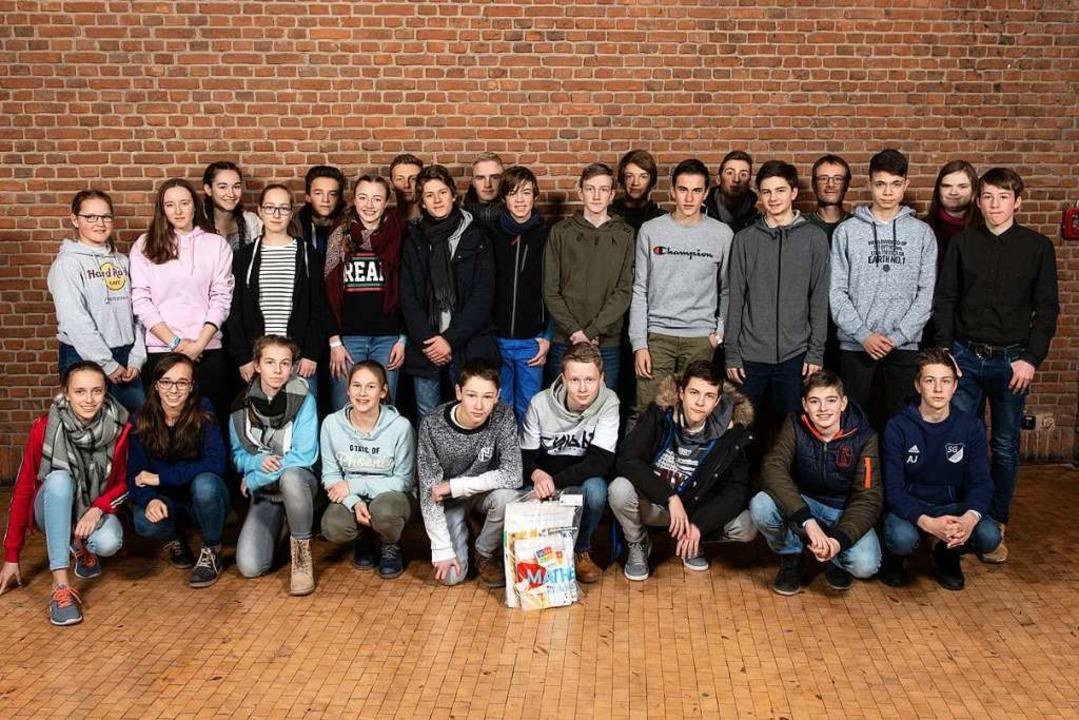 27 Schülerinnen und Schüler der Klasse...en Universität nach Berlin gereist.     | Foto: Kay Herschelmann