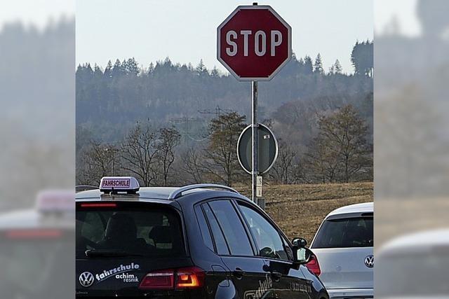 Ein neuer Unfall trotz Stop-Schild