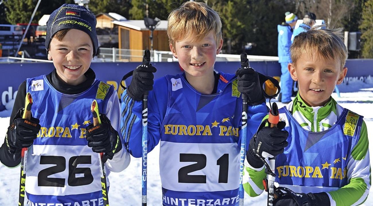 Die Sieger in der Schülerklasse U 10: ...)  und dem Schonacher Tim Schwenteck.   | Foto: junkel
