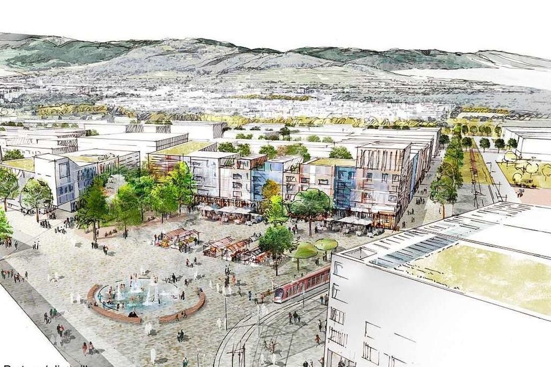 Der Vertrag mit der Architektengruppe ...inen zentralen Platz im Stadtteil vor.  | Foto: K9 ARCHITEKTEN  GmbH