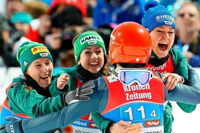 Ramona Straub nach dem Gewinn von WM-Gold: