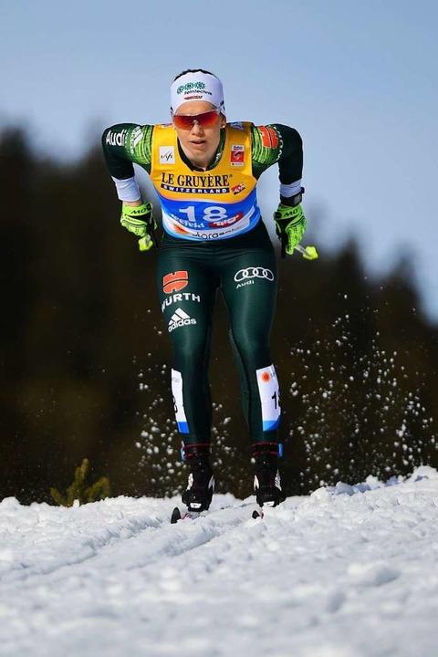 Sandra Ringwald vom Skiteam Schonach-R...r klassisch unter ihren Möglichkeiten.  | Foto: dpa