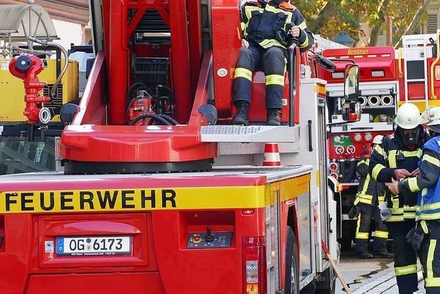 Brand an der Hochschule: Feuer richtete schaden auf der Baustelle des RIZ an