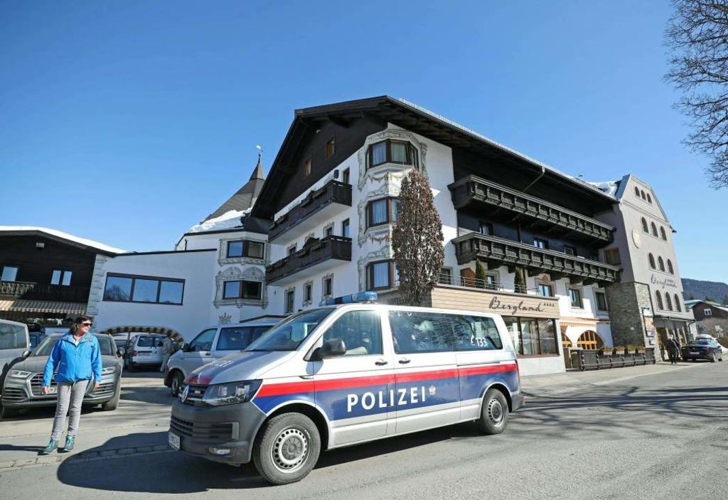 Polizeieinsatz in Seefeld    Foto: AFP