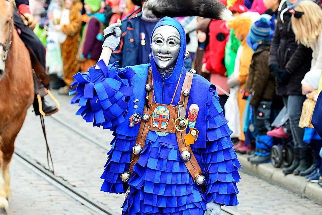 Die blauen Narern sind in diesem Jahr ...otektoratszunft der Freiburger Fasnet.  | Foto: Ingo Schneider
