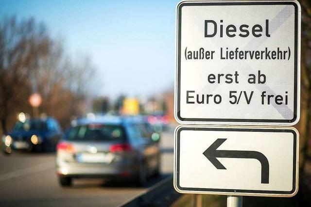 In Stuttgart sind die ersten 5 Bußgeldbescheide gegen Dieselfahrer ergangen