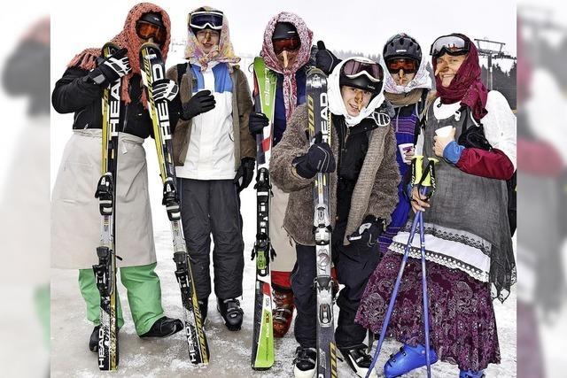 Wintersporttag als Hexe auf dem Feldberg
