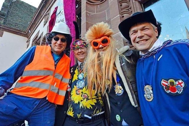 Das Freiburger Rathaus ist in Narrenhand – aber ein Sabotageakt trübt den Spaß