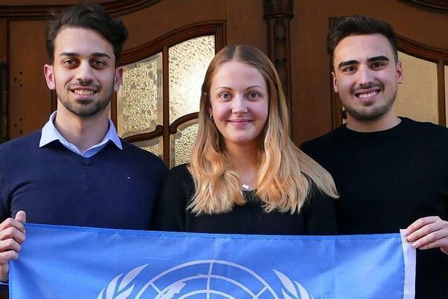 Diese Lörracher DHBW-Studenten machen einen Ausflug in die Weltpolitik