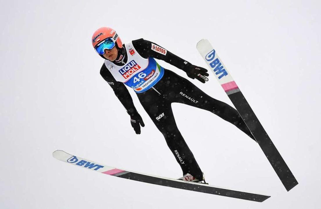 Der Sieger: Dawid Kubacki  | Foto: dpa