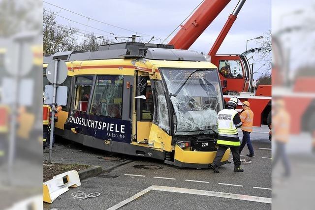 Straßenbahnunfall in Karlsruhe